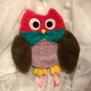 Cute Owl small kids backpack bag plush soft